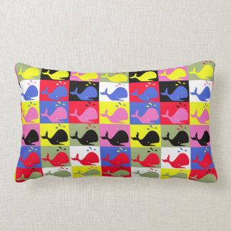 Ballenas del o de los pattern_Lots de la Cojín Lumbar