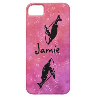 ballenas en cubiertas ROSADAS del iphone del agua iPhone 5 Protector