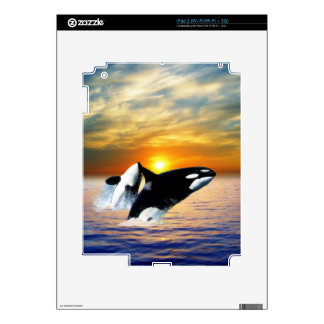Ballenas en la puesta del sol skin para el iPad 2