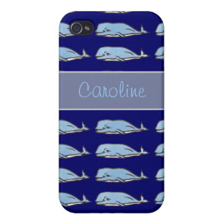 ballenas impresionantes personalizadas iPhone 4 carcasas