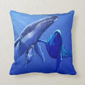 Ballenas jorobadas cojin