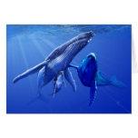 Ballenas jorobadas felicitación