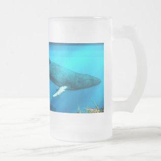 Ballenas jorobadas taza de cristal