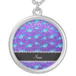 Ballenas púrpuras conocidas personalizadas del bri colgante personalizado