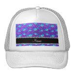 Ballenas púrpuras conocidas personalizadas del bri gorras de camionero
