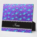 Ballenas púrpuras conocidas personalizadas del bri placa para mostrar