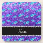 Ballenas púrpuras conocidas personalizadas del bri posavasos