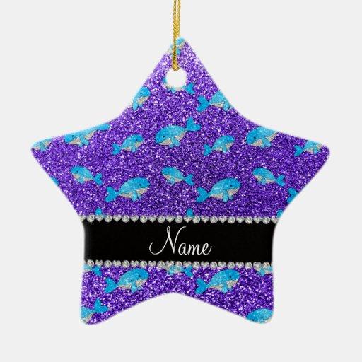 Ballenas púrpuras conocidas personalizadas del ornamentos de reyes