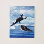 Ballenas soñadoras en la diversión y el juego puzzles con fotos