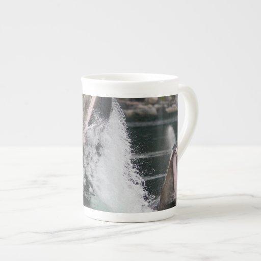 ballenas taza de porcelana