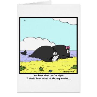 Ballenas varadas tarjeta de felicitación