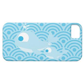 Ballenas y ondas iPhone 5 fundas