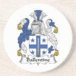 Ballentine Family Crest Beverage Coasters