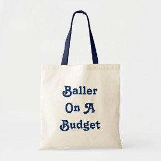 Baller en un tote del presupuesto bolsa tela barata