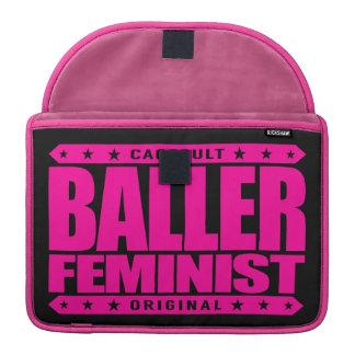 BALLER FEMINIST - I Fight for Women's Equal Rights Sleeve For MacBook Pro