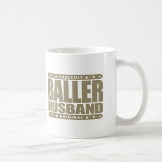 BALLER HUSBAND - Rocking a ManCave w/ Dancer Pole Classic White Coffee Mug
