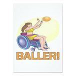Baller Invitación 12,7 X 17,8 Cm