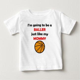 Baller Like My Mommy Tee Shirt