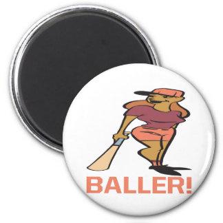 Baller 2 Inch Round Magnet