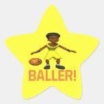 Baller Pegatina Forma De Estrella Personalizadas