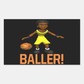 Baller Pegatina Rectangular