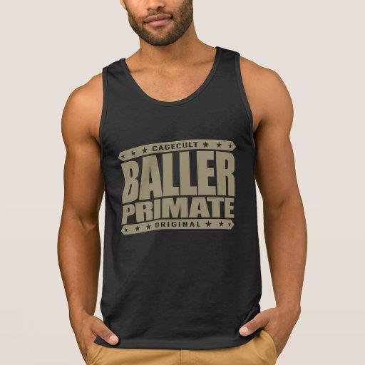 BALLER PRIMATE - Warning: 98% Gangster Chimp DNA Tanks Tank Tops, Tanktops Shirts