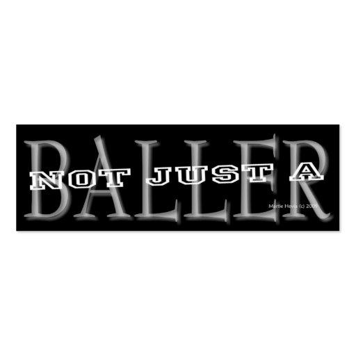 Baller - Social Media Personal Card Business Card Templates