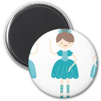ballerina1 2 inch round magnet