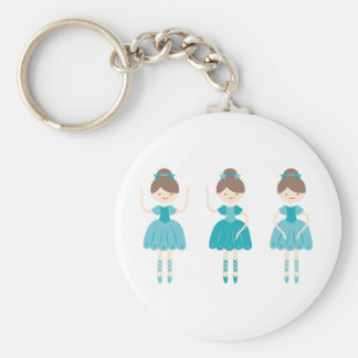 ballerina1 basic round button keychain