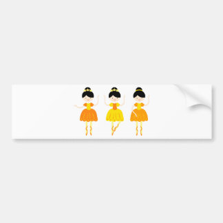 ballerina3 bumper sticker