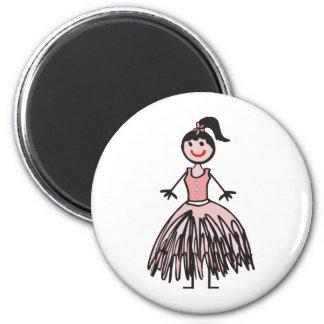 ballerina 2 2 inch round magnet