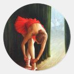 Ballerina 2 classic round sticker