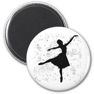 Ballerina 2 Inch Round Magnet