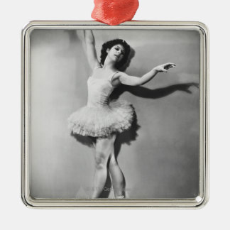 Ballerina 2 metal ornament