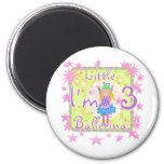Ballerina 3rd Birthday Tshirts and Gifts Fridge Magnet