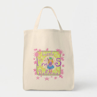 Ballerina 5th Birthday tshirts and Gifts Canvas Bags