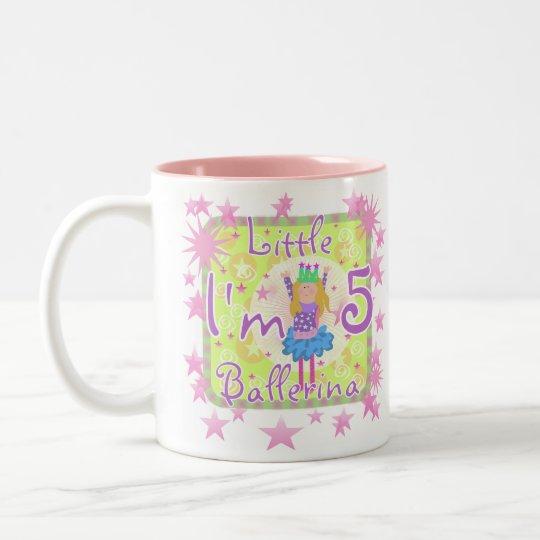 Ballerina 5th Birthday Two-Tone Coffee Mug