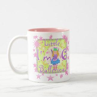 Ballerina 6th Birthday Two-Tone Coffee Mug
