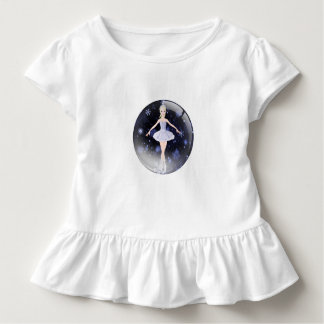Ballerina among snow flakes toddler t-shirt