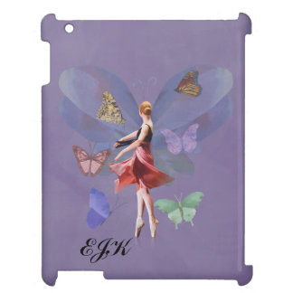 Ballerina and Butterflies, Monogram Case For The iPad 2 3 4