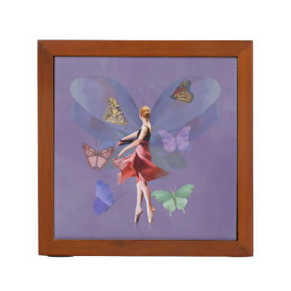 Ballerina and Butterflies, Reversible Pencil Holder
