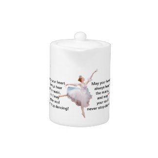 Ballerina and Castanets Customizable Teapot