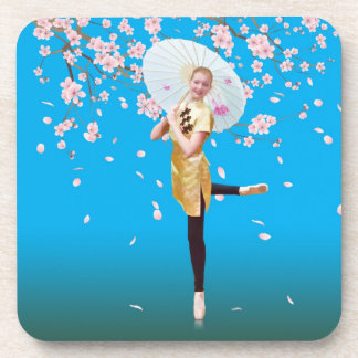 Ballerina and Cherry Blossoms Coaster