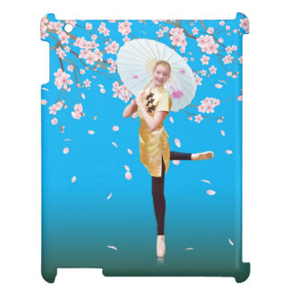Ballerina and Cherry Blossoms Cover For The iPad