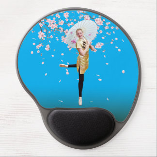 Ballerina and Cherry Blossoms Gel Mouse Pad