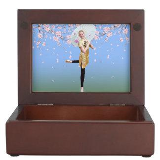 Ballerina and Cherry Blossoms Keepsake Box