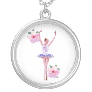 Ballerina and Hibiscus Necklace