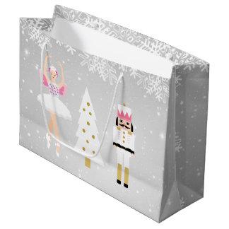 Ballerina and Nutcracker Christmas Gift Bag