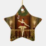 Ballerina and Nutcracker Christmas Star Ornament