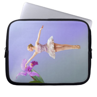 Ballerina and Orchid Laptop Computer Sleeve